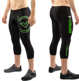 Virus Men's Stay Cool 3/4 Length Compression Boot Cut (RX5-V3) - Black/Green