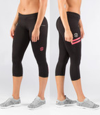 Virus Women's Power Tech Crop Pant  ECO24 BLACK/CORAL