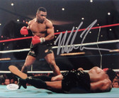 "Mike Tyson Autographed ""vs Berbick KO"" 16x20 Photo - JSA Authentication"
