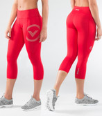 Virus Women's Stay Cool Compression Crop Pant (Eco34) RED