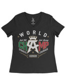 Canelo Alvarez And Still V-Neck Womens T-Shirt
