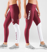 Virus Women's Stay Cool Compression Pant (ECO21) Maroon/White