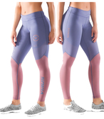 VIRUS WOMEN'S ECO21.5 STAY COOL V2 COMPRESSION PANTS Indigo/Rose Brown