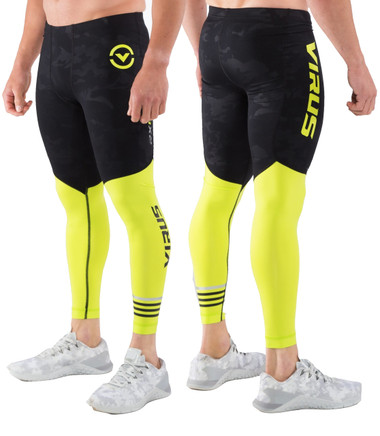 Virus RX8.5 Stay Cool Compression Pants Black Camo/Lime Punch