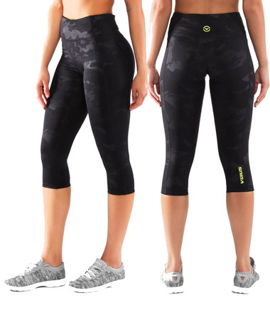 Virus ECo60 Omega Tech Crop Compression Pants - BLACK CAMO