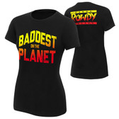 "WWE Ronda Rousey ""Baddest On The Planet"" Authentic Womens T-Shirt"