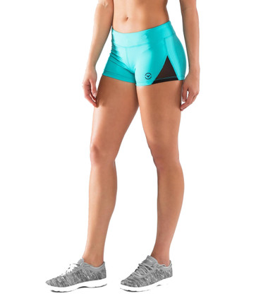 Women's DATA Mesh Training Shorts Teal Green
