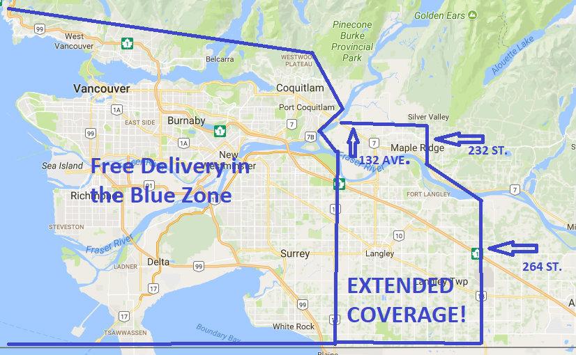 MyGardenBag delivery zone
