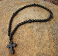 Prayer Rope - 50 Black Ebony Beads, 8mm