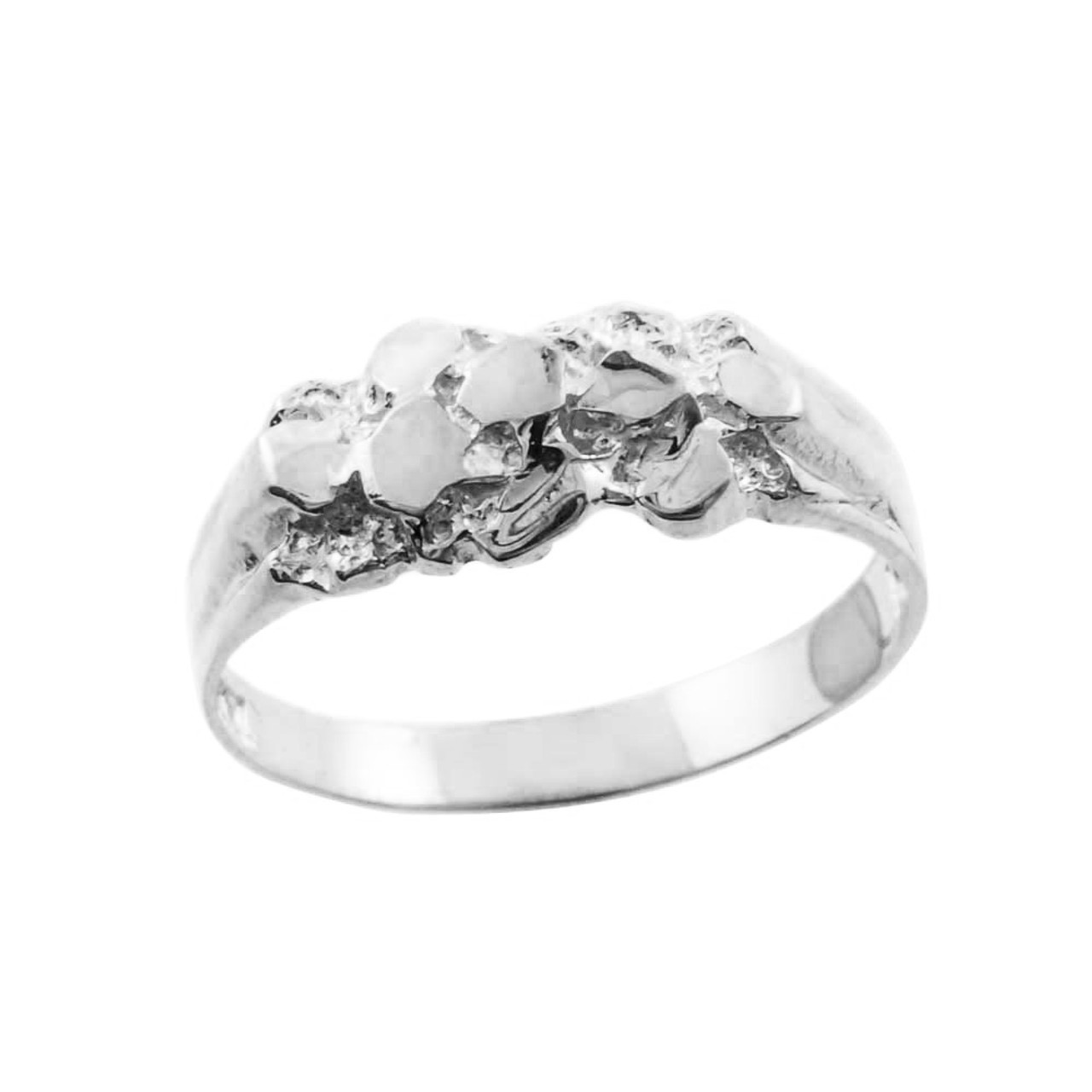 white gold nugget baby ring factory direct jewelry