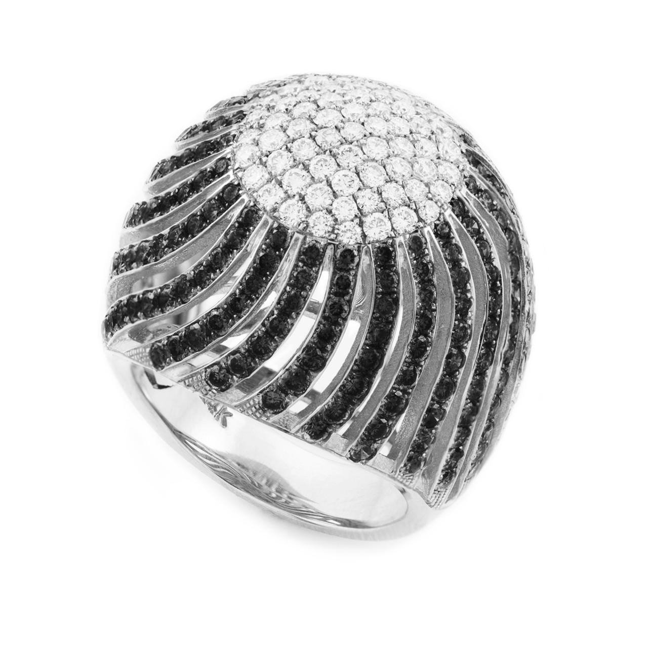 14k white gold diamond pave cocktail ring. Black Bedroom Furniture Sets. Home Design Ideas
