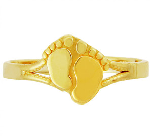 Yellow Gold Footprint toe Ring