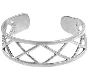Silver X Toe Ring