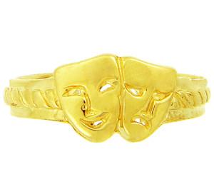 Yellow Gold Drama Toe Ring