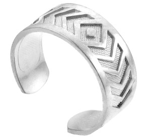 Silver Chevron Toe Ring