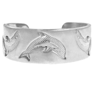 Dolphin White Gold Toe Ring