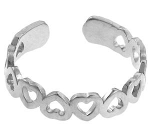 Silver Heart Shaped Toe Ring