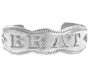 "White Gold ""BRAT"" Toe Ring"