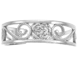 Silver Rose Toe Ring