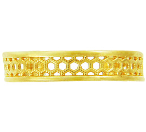 Yellow Gold Chainmail Toe Ring