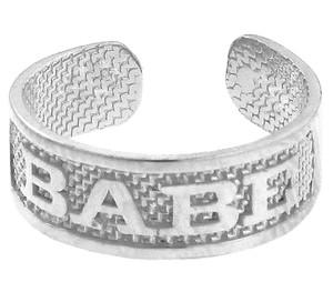 "White Gold ""BABE"" Toe Ring"