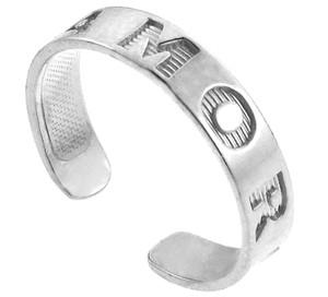 Silver AMOR Toe Ring