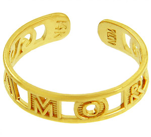 AMOR Yellow Gold Toe Ring