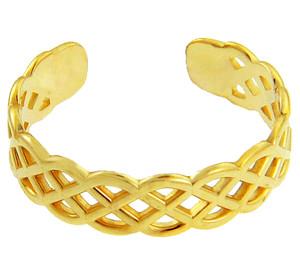 Yellow Gold Trinity Knot Toe Ring