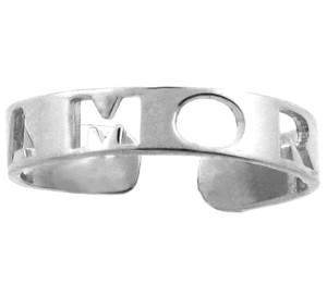 "Silver ""AMOR"" Toe Ring"