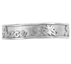 Silver Peace Toe Ring