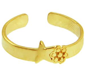 Star Yellow Gold Toe Ring