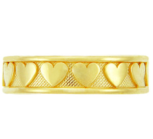 Classy Heart Yellow Gold Toe Ring