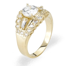Ladies Cubic Zirconia Ring - The Sakura Diamento