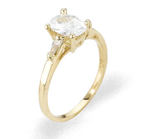 Ladies Cubic Zirconia Ring - The Yelena Diamento