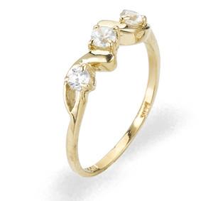 Ladies Cubic Zirconia Ring - The Calla Diamento