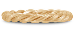 Gold Twisted Rope Wedding Band