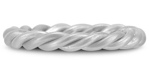 White Gold Twisted Rope Wedding Band