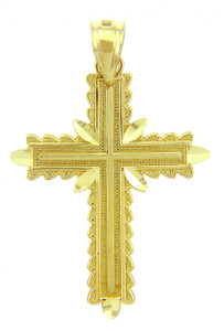 Yellow Gold Cross Pendant - The Christian Cross