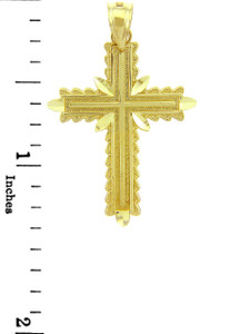 Yellow Gold Cross Pendant - The Christian Cross
