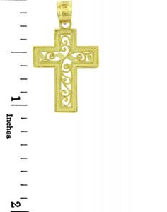 Yellow Gold Cross Pendant - The Life Cross