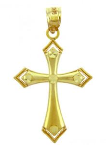 Yellow Gold Cross Pendant - The Victory Cross