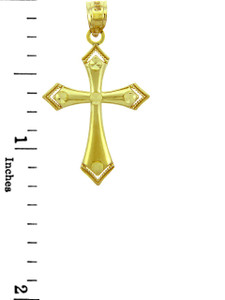 Yellow Gold Cross Pendant - The Victory Cross