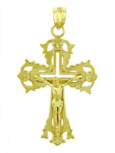 Yellow Gold Crucifix Pendant - The Absolution Crucifix