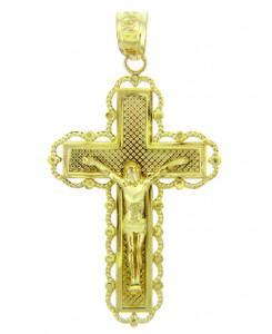 Yellow Gold Crucifix Pendant - The Belief Crucifix
