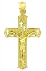 Yellow Gold Crucifix Pendant Necklace- The Crosses Crucifix