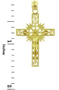 Yellow Gold Crucifix Pendant - The Hope Crucifix