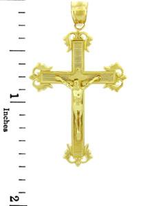Yellow Gold Crucifix Pendant - The Passion Crucifix