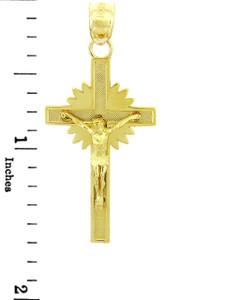 Yellow Gold Crucifix Pendant - The Star Crucifix