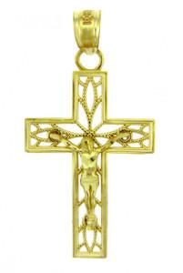 Yellow Gold Crucifix Pendant - The Trust Crucifix
