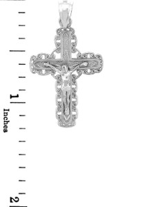 White Gold Crucifix Pendant - The Purity Crucifix